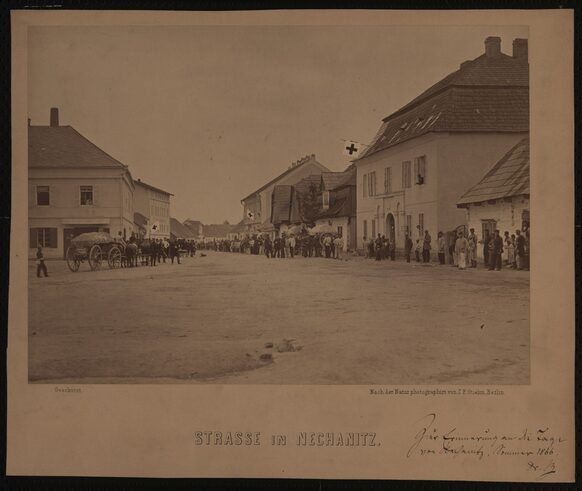"""Strasse in Nechanitz"" 1866"